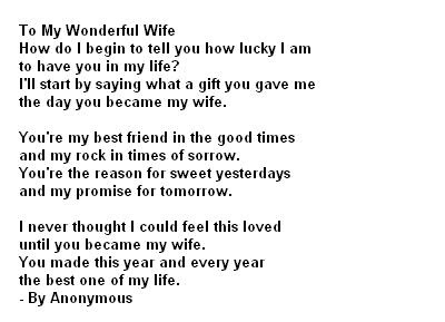 Love Poems For Wife Short Love Poems Message For Wife