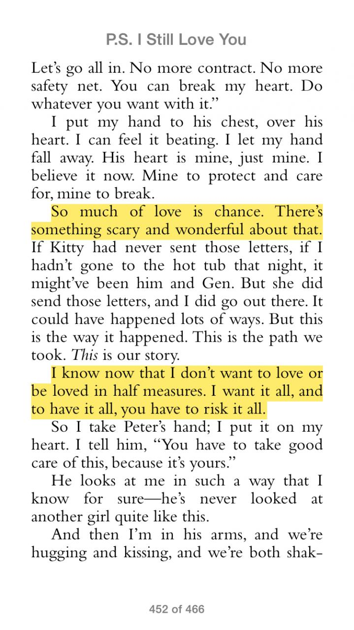 Love Quotes From Ps I Love You P S I Still Love Youjenny Han Books