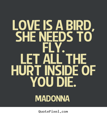 How To Make Picture Quotes About Love Love Is A Bird She Needs To