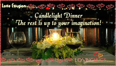 Love Coupons Candle Light Dinner