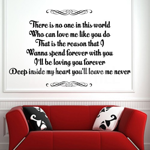 Loving You Forever Deep Inside My Heart Wall Decals Quotes