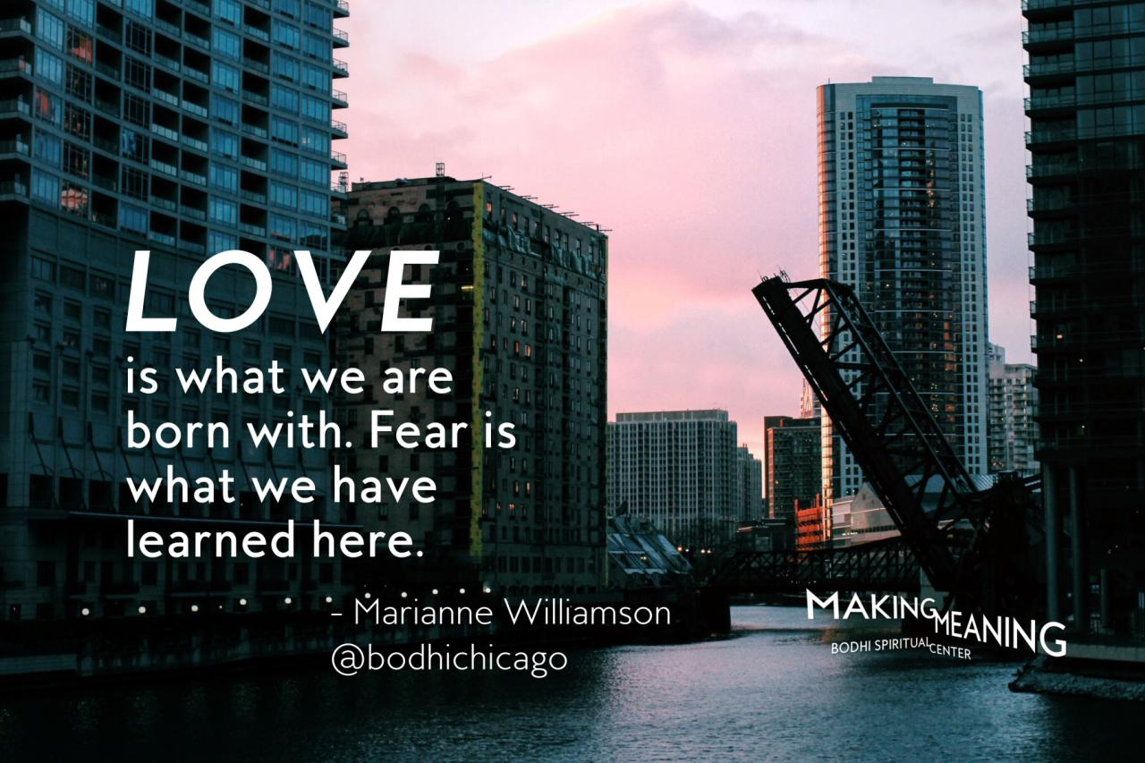 Wednesday Wisdom Quote Marianne Williamson On Love And Fear