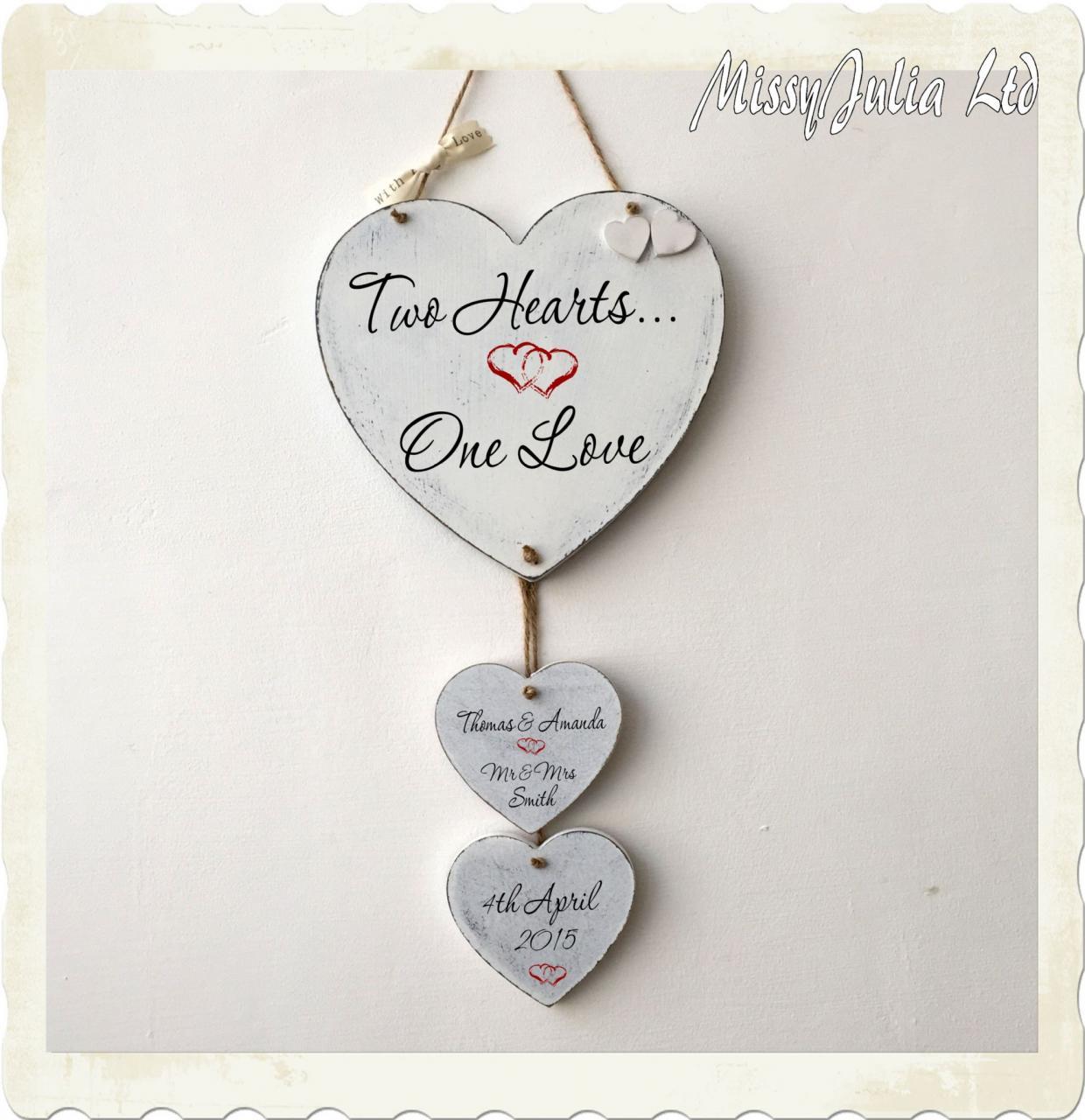 Personalised Wedding Anniversary Love En Ement Heart Love Plaque Sign W
