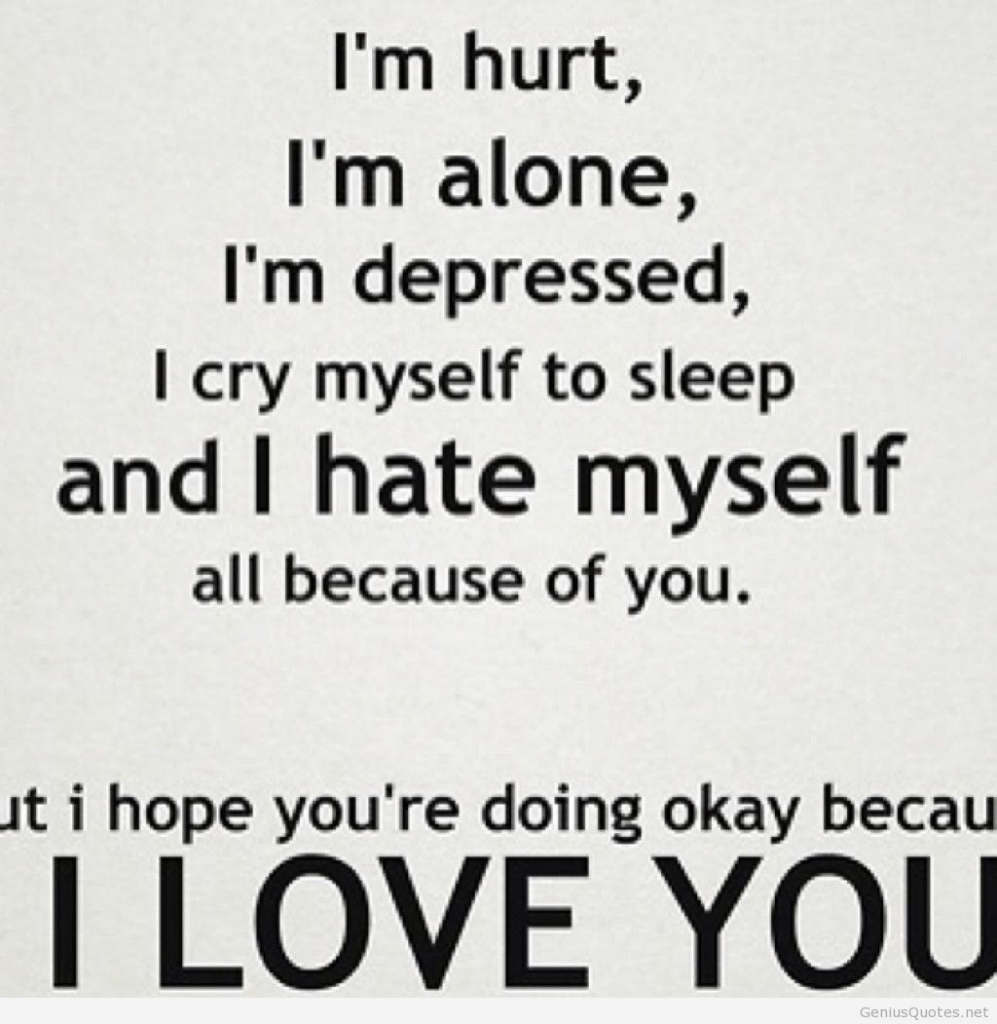 Love Sad Quotes Make You Cry Hover Me