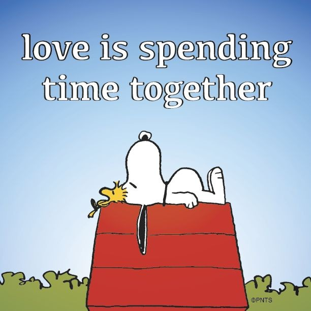 Snoopy Quote  Picture Quote  Spending Time Together Quote  Picture