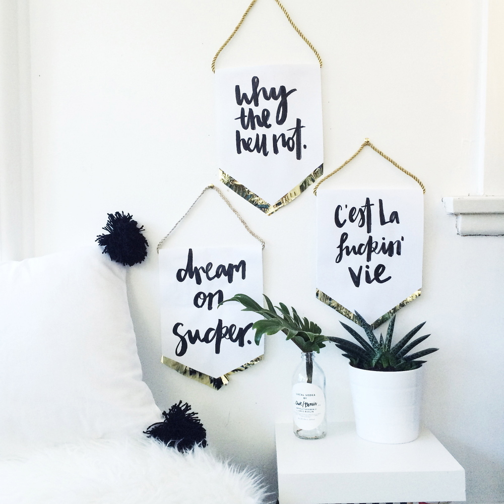 Wedding Signs Hanging On A Wall