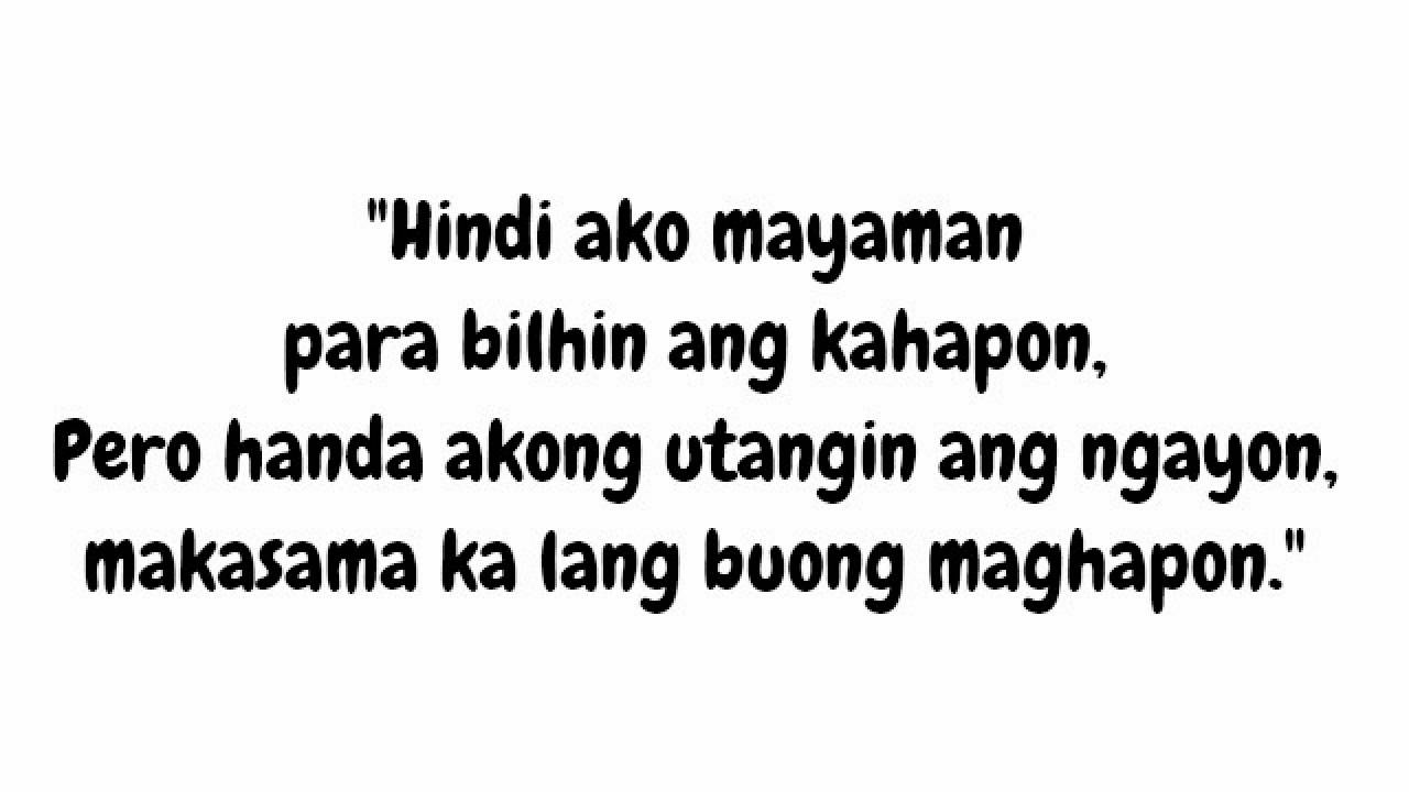 Tagalog Love Quotes With Rhymes Tagalog Love Quotes Qtiny