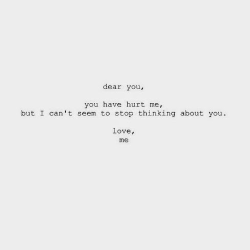 I Cant Stop Thinking About You Quote