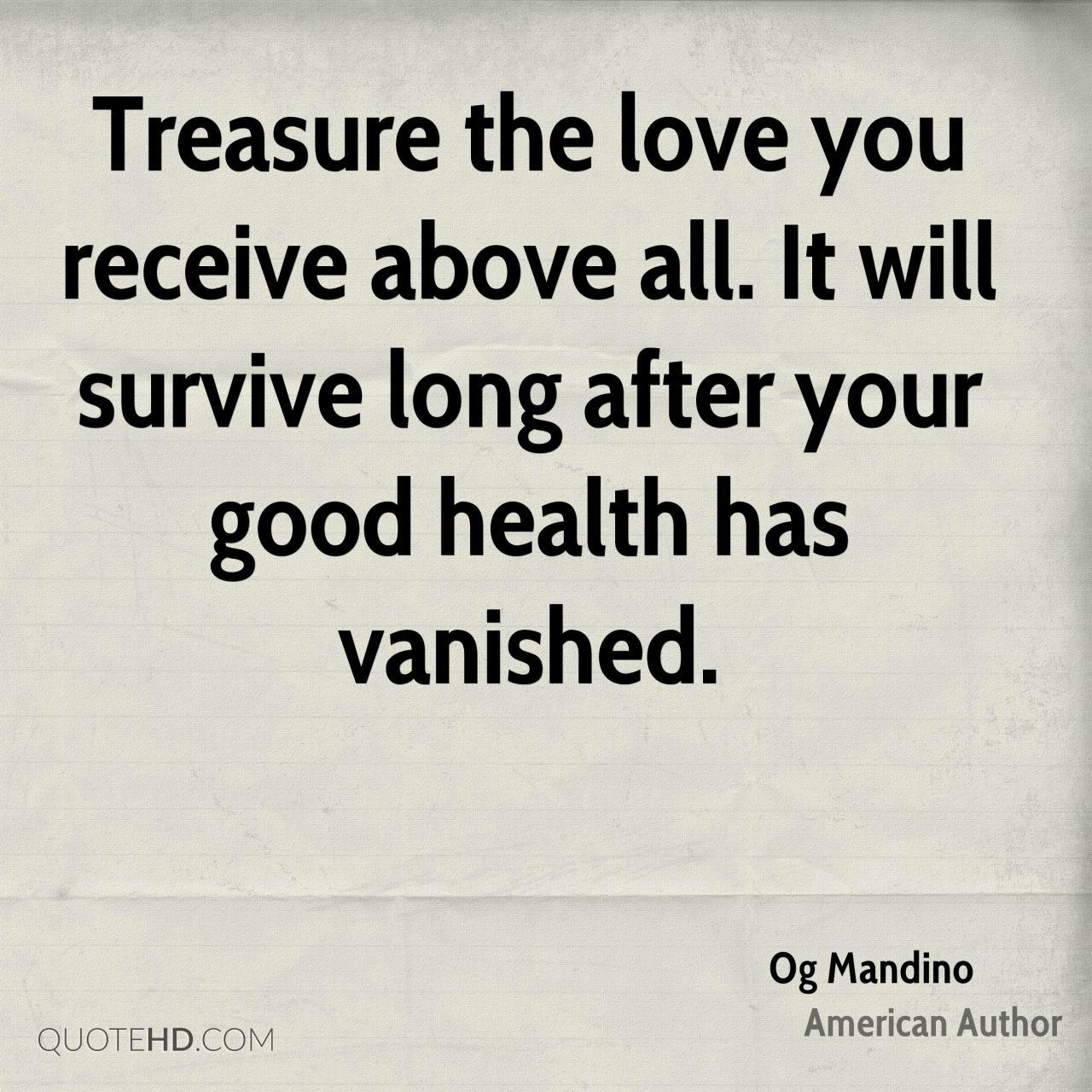 Treasure Love Quotes  C B Treasure Love Quotes Og Mandino Health Quotes Quotehd