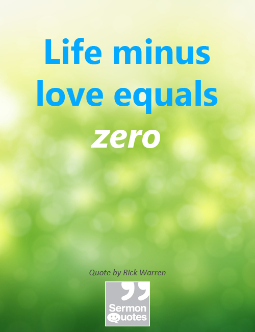Life Minus Love Equals Zero
