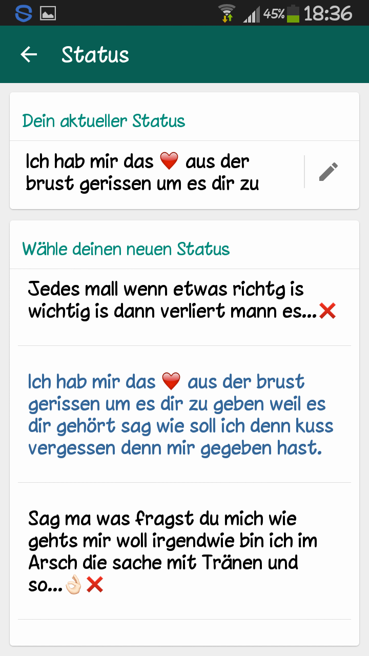 Spruche Fur Whatsapp Status Deutsch
