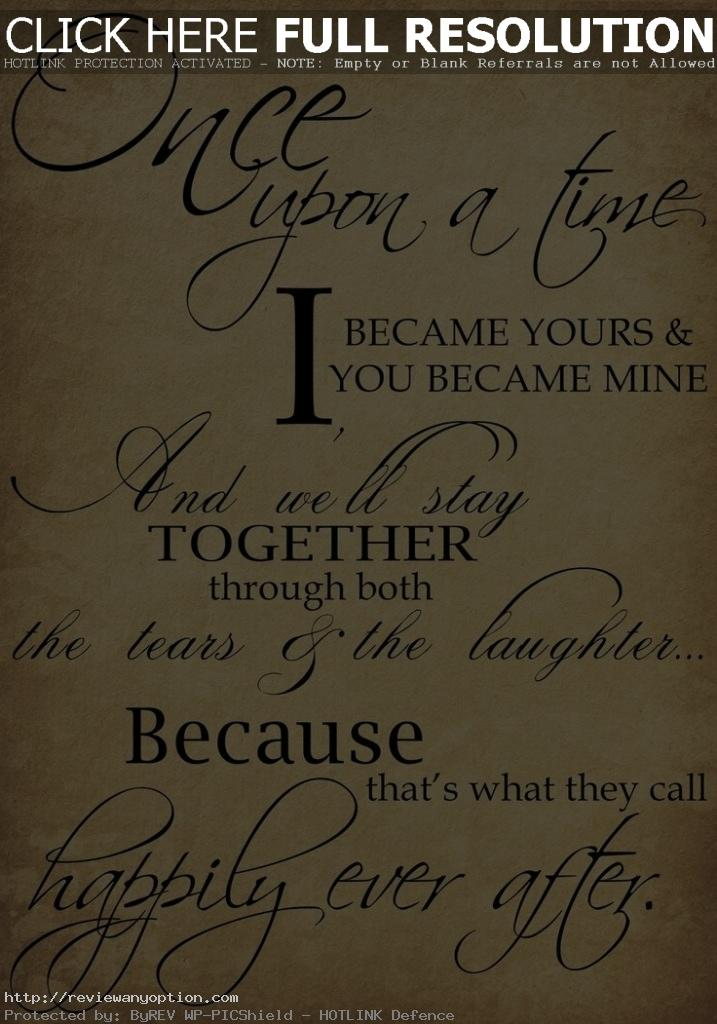 Wedding Love Quotes Awesome Beautiful Wedding Quotes About Love Once Upon A Time I Became