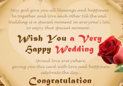 Wedding Wishes  May Give You All Blessings And Happiness Be Together And Love Each