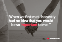 First Day We Met Love Quotes