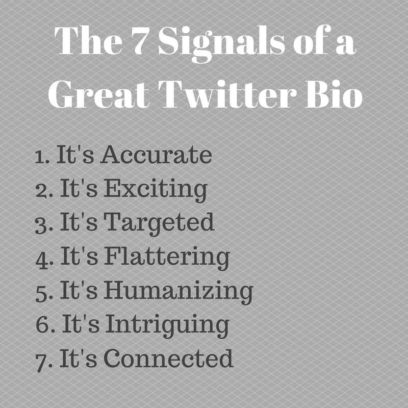 Signals Of A Great Twitter Bio