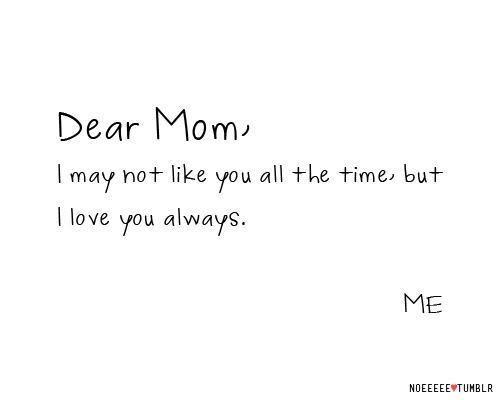 Dear Mom Tumblr