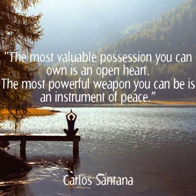Carlos Santana Quote On Love And Peace