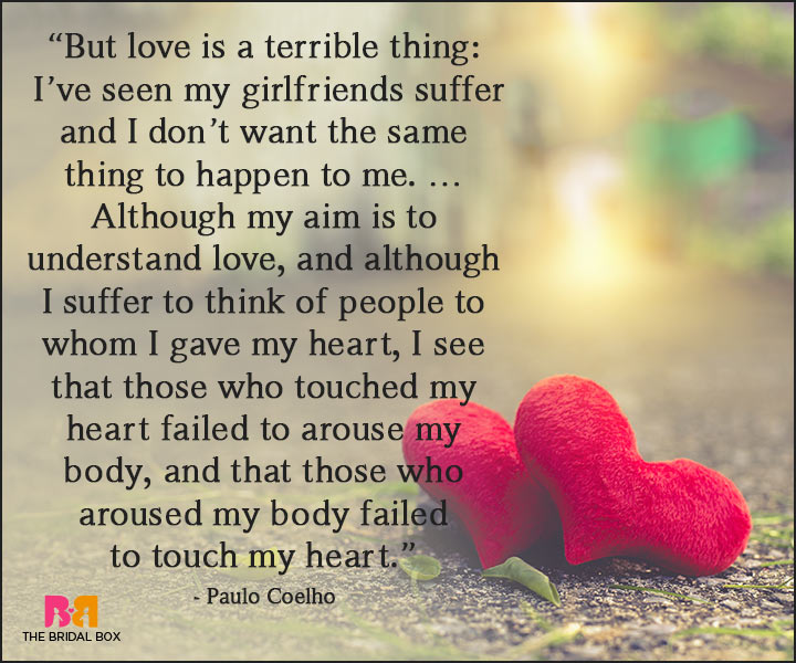 Paulo Coelho Love Quotes Love And