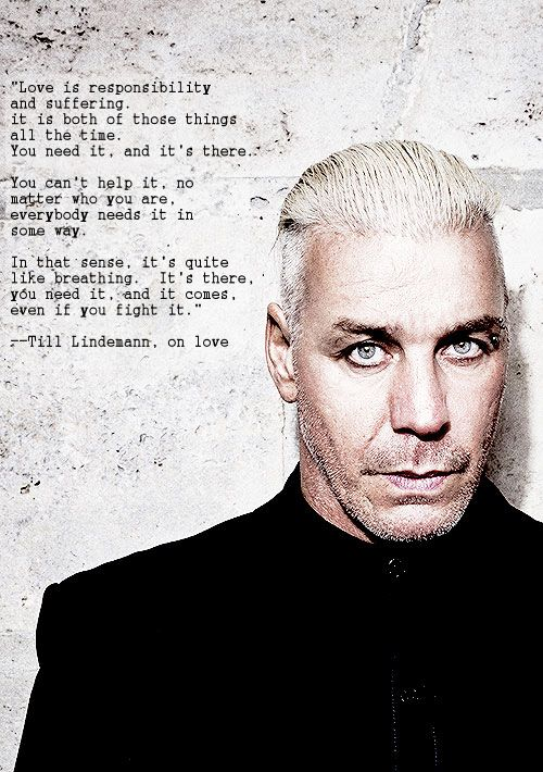 Love Is Responsibility And Suffering Till Lindemann More At