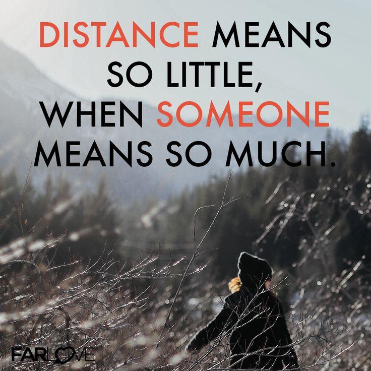 Distance Means So Little When Someomne Means So Much Fernbeziehung Vermissen