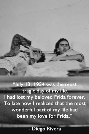 Frida And Diego Laying In Bed Diego Mourns The Loss Of His Beloved Frida