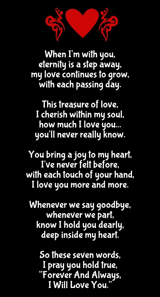 As The Quote Says Description Long Love Poems