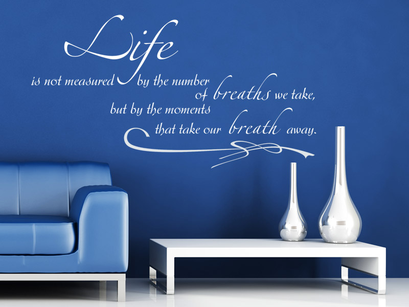 Life Is Not Measured By The Number