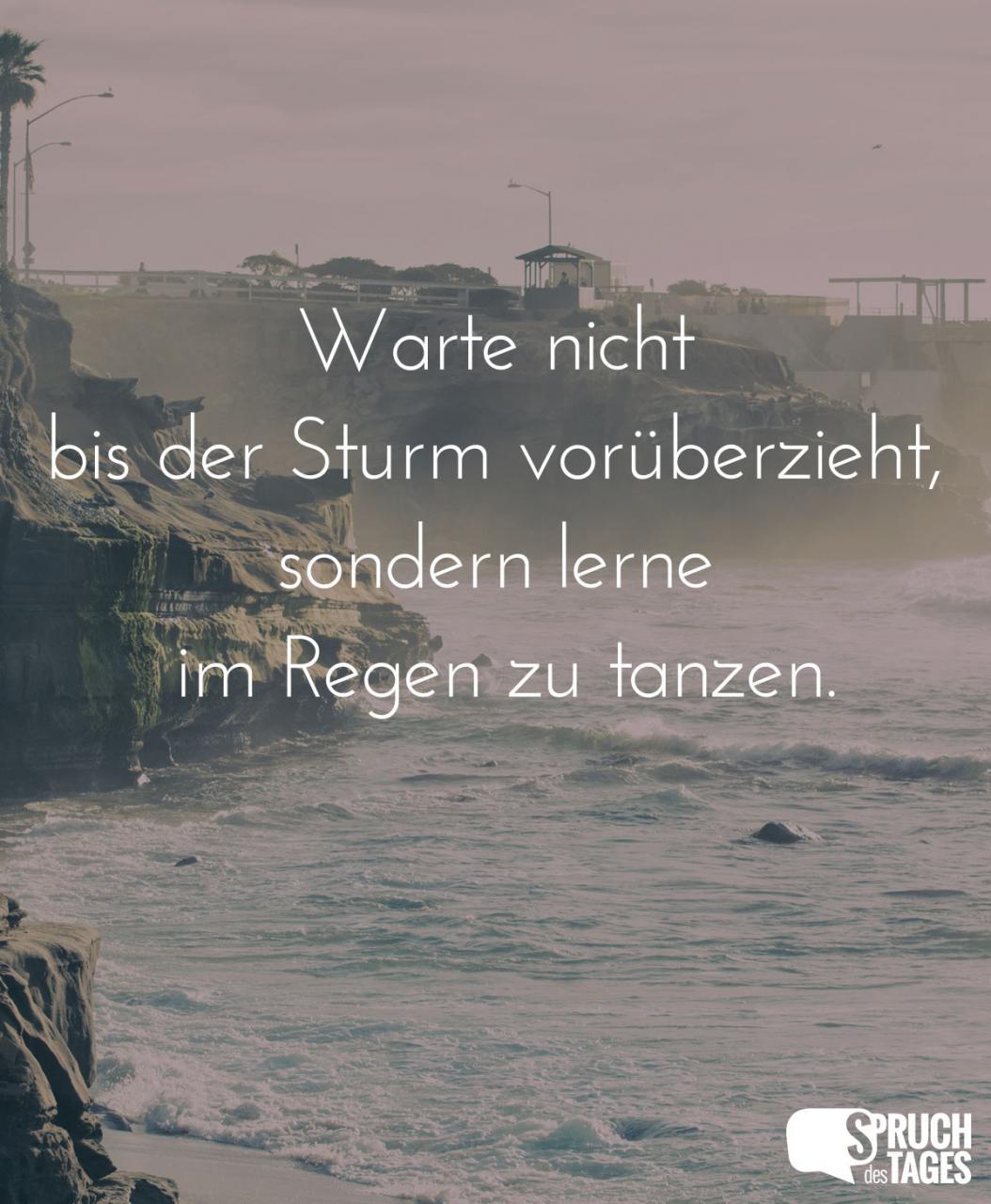 Warte Nicht Bis Der Sturm Voruberzieht Sondern Lerne Im Regen Zu Tanzen