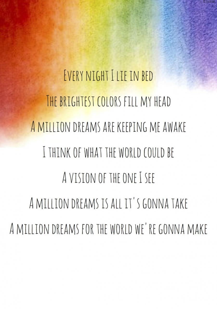 A Million Dreams The Greatest Showman Lyrics Quotes