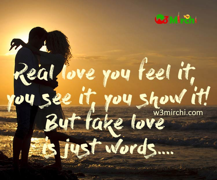 Real Love And Fake Love
