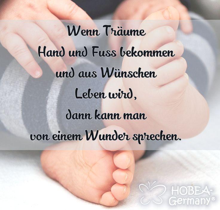 Babyspruch Spruch Zur Geburt Baby Quote Wenn Traume Hand Und Fuss Bekommen