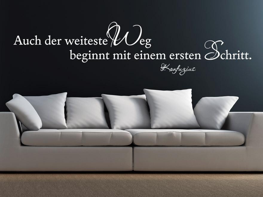 Zitat Auch Der Weiteste Weg Von Konfuzius Als Wandtattoo Spruch Im Wohnzimmer