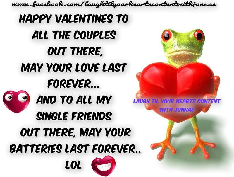 Funny Happy Valentines Day Quote For Couples And Singles