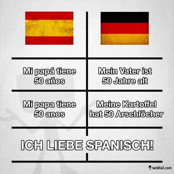 Extrem Heute Aus Der Rubrik Lustige Sprachen Spanisch Fun Bild Ak