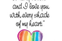 I Love U Mrg Inside Rainbow Colored Love Card Lgbt Glbt Pride