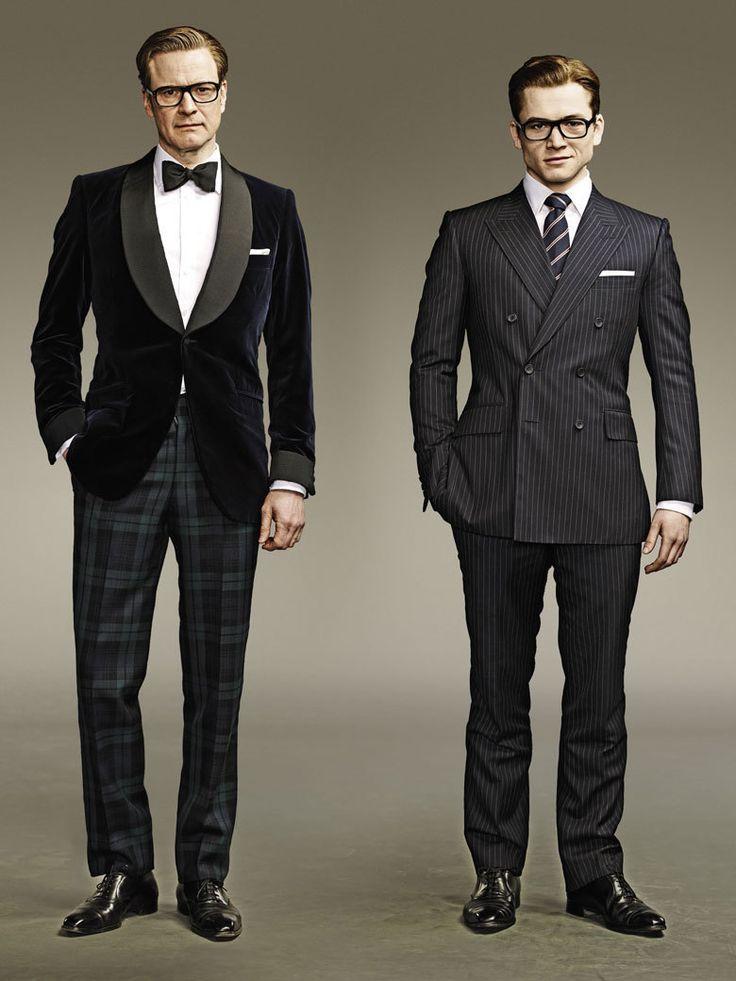 Colin Firth Et Taron Egerton Heros Du Film Kingsman Services Secrets Et Modeles Pour