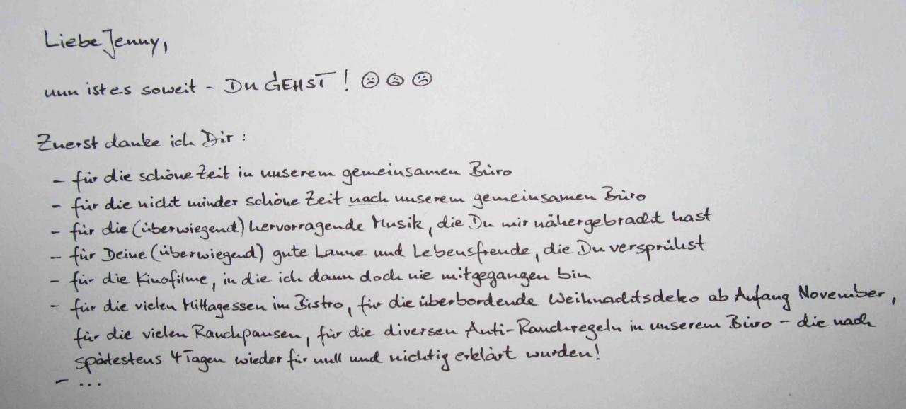 Spruch Abschied Kollege Arbeitswechsel Io Messianica