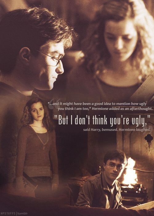 I Love When Hermione Tries To Give Harry Advice On His Love Life