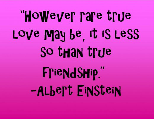 This Is A Quote From A Genius About Love And Friendship Albert Einstein