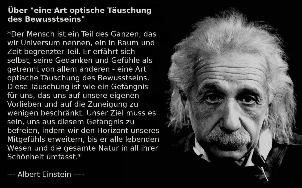 Albert Einstein Uber Eine Art Optische Tauschung Des Bewusstseins