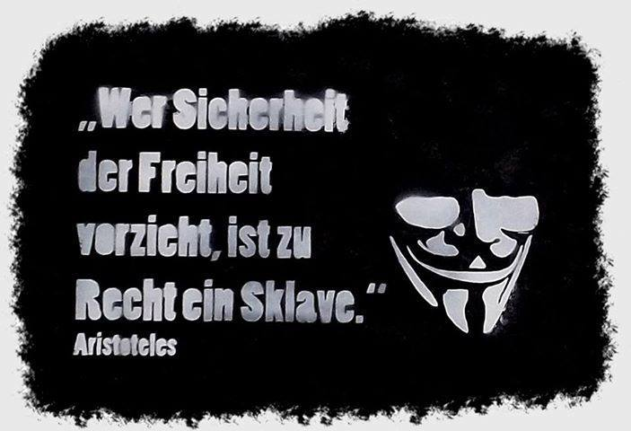 Wer Sicherheit Der Freiheit Vorzieht Ist Zu Recht Ein Sklave Aristoteles Angeblich