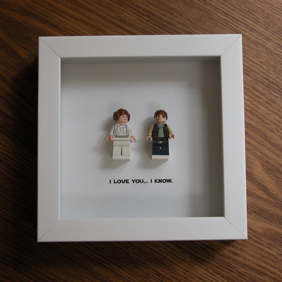 Lego Ich Liebe Dich Ich Weis Star Wars Prinzessin Leia Und