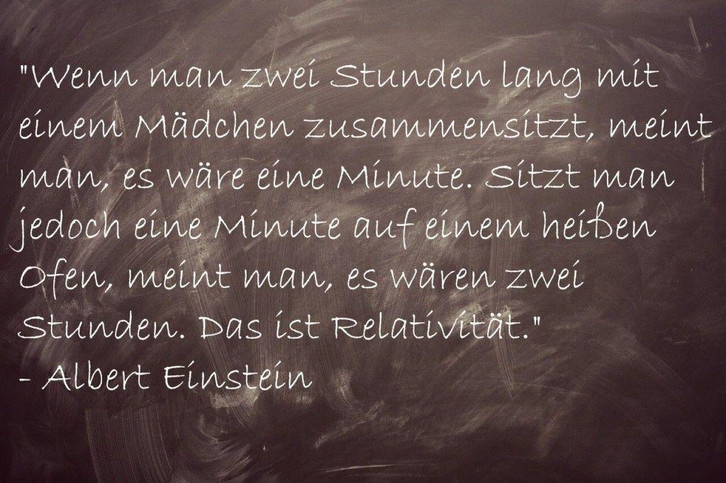 Albert Einstein Zitate Relativitat