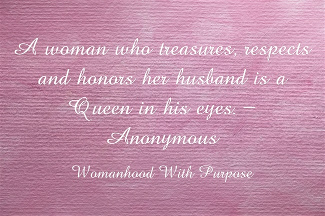 A Woman Who Treasures Her Husband