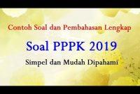 Soal Pppk 2019 Pdf Icpns
