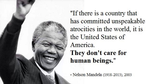 Nelson Mandela Zitat Uber Usa Sie Interessieren Sich Nicht Fur Menschen Newsraid