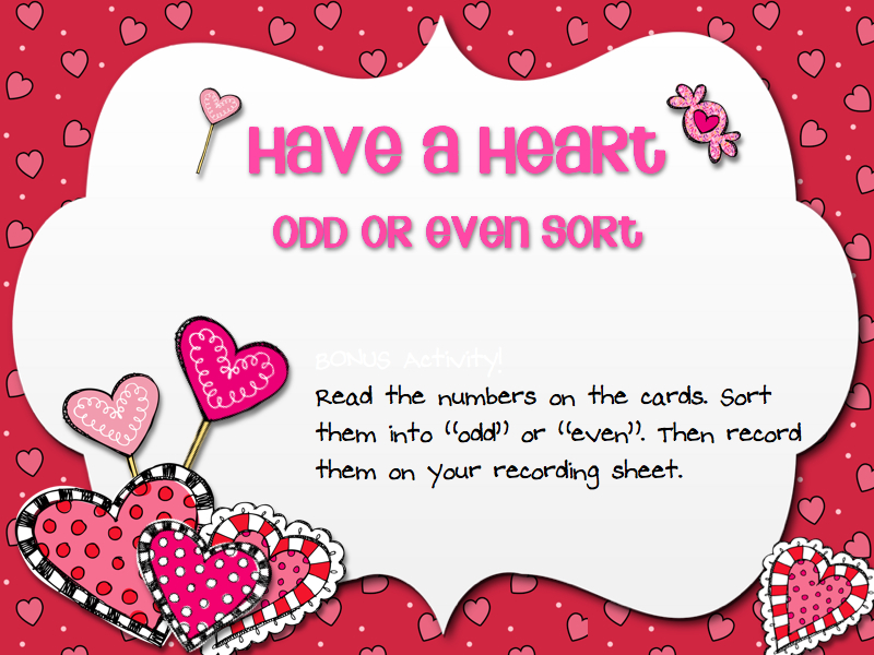 Valentines Day Odd Even Sort