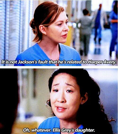 Meredith And Cristina Ha Even On Tv Family Can Be A Greys Anatomy Zitatefilme Seriengreys