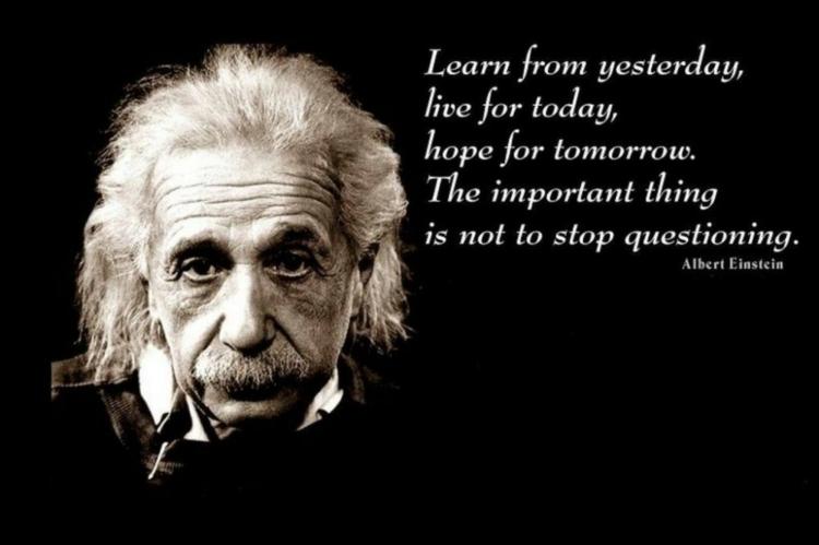 Albert Einstein Zitate Gestern Heute Morgen Lernen Fragen  Albert Einstein Zitate Spruche Weisheiten Zu Verschiedenen Themen