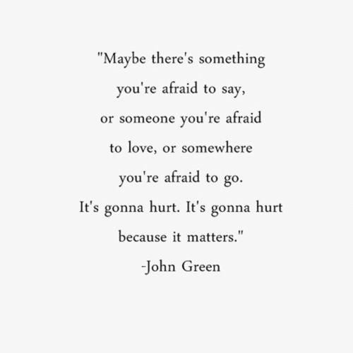 Liebe  C B Its Gonna Hurt John Green